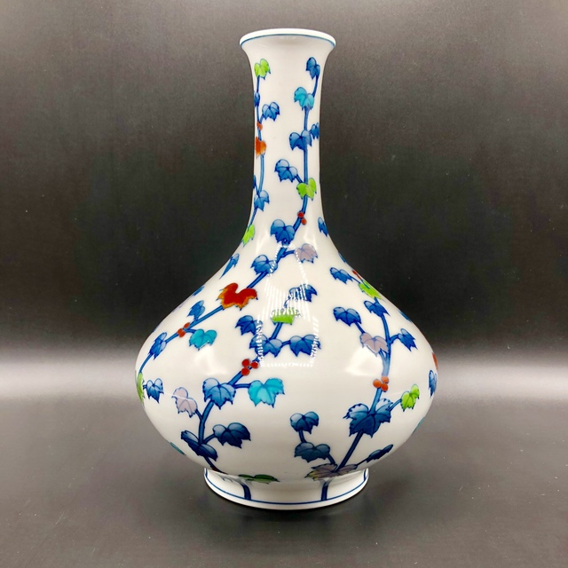 , ' Japanese Arita Vase with Flowers design ,' 21st. Century, Romang Antiques Gallery - Asian Art