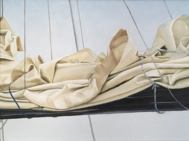 , 'Layers and Folds,' 2019, WaterWorks Gallery