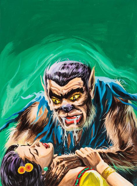 , 'Untitled (Werewolf man strangling woman),' c. 1960-75, Ricco/Maresca Gallery