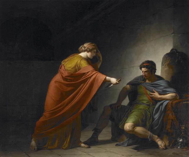 François-André Vincent, 'Arria and Paetus', 1784, Saint Louis Art Museum