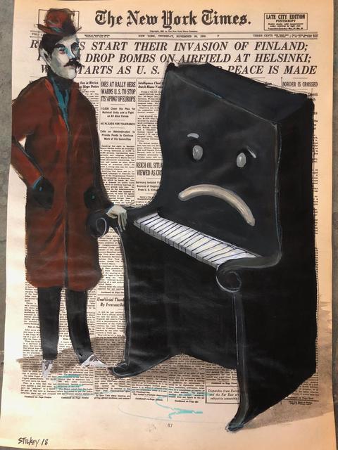 Mike Stilkey, 'Man Comforting Sad Piano', 2018, bG Gallery