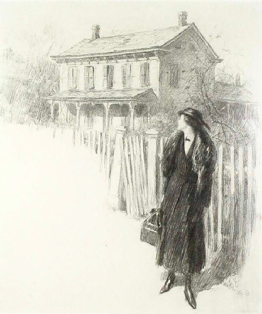 Worth Brehm, 'Woman Looking Back', 20th Century, The Illustrated Gallery