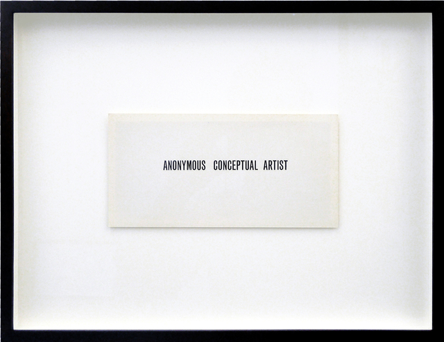 , 'Anonymous Conceptual Artist,' , Galerija Gregor Podnar
