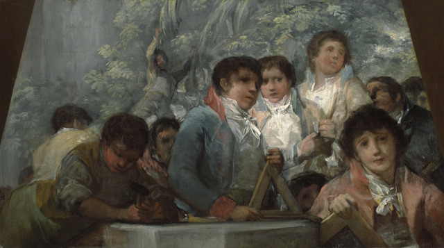 , 'Estudiantes de la Academis Pestalozzi (fragmento) [Students from the Pestalozzian Academy (fragment)],' 1806-1807, Blanton Museum of Art