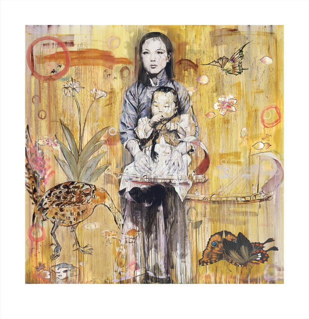 Hung Liu 刘虹, 'Mother and Child (3/9)', 2020, Print, Archival Pigment Print Mixed Media, Gail Severn Gallery