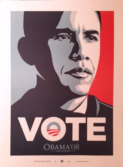 Shepard Fairey, 'Vote', 2008, Galerie Brugier-Rigail