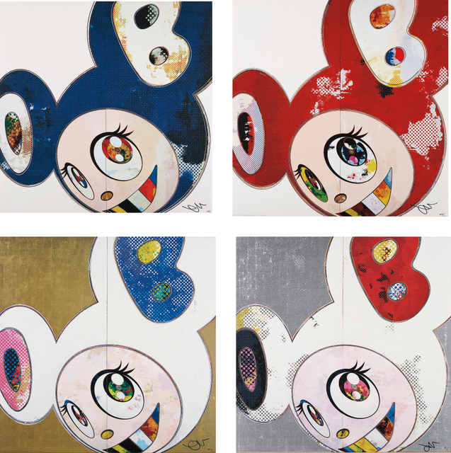 Takashi Murakami, 'And Then x6 Blue; And Then x6 Red; DOB in Pure White Robe (Pink & Blue); and DOB in Pure White Robe (Navy & Vermillion)', Phillips
