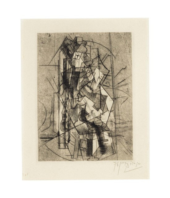 Pablo Picasso, 'L'homme à la guitare', 1915, Print, Drypoint on Japon paper, Christie's