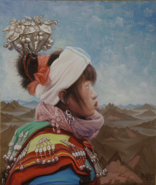, 'A girl of Miao with landscape background No.2,' 2019, ARC ONE Gallery