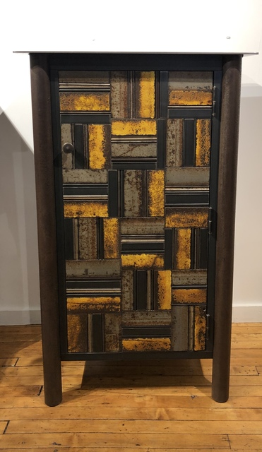 Jim Rose One Door Basket Weave Quilt Cupboard 2019 Available For Sale Artsy