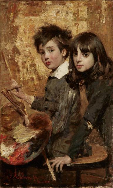 , 'Il pitlore in erba (The Budding Painter),' 1883, Jack Kilgore & Co.