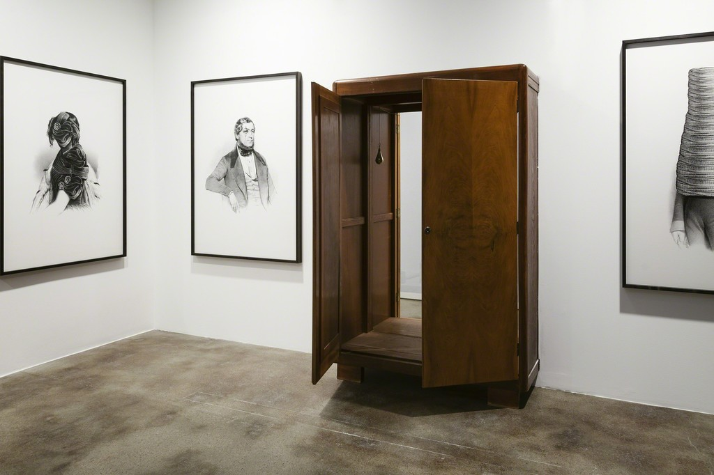 Markus Schinwald, Portal, 2003. Installation view. Courtesy the artist. Photo: Christian Saltas, 2015.