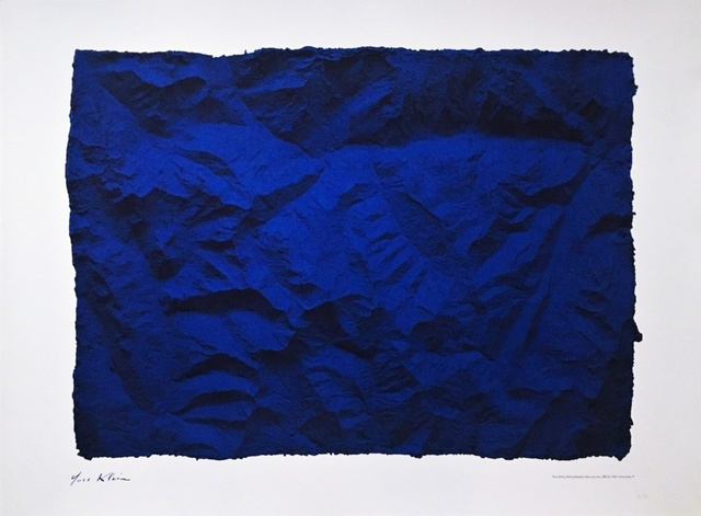 Yves Klein, 'Untitled Blue Planetary Relief (RP6), 1961 (Certified by Yves Klein Archives)', 2015, Print, Color inkjet print.  hand numbered with authorized plate signature and yves klein archives blind stamp. unframed, Alpha 137 Gallery Gallery Auction