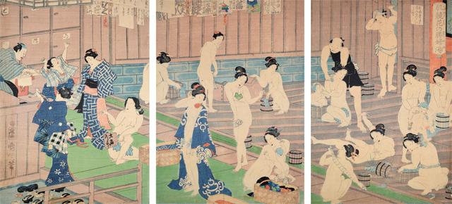 , 'Comparison of Nudes to Irises at the Public Bath,' 1868, Ronin Gallery