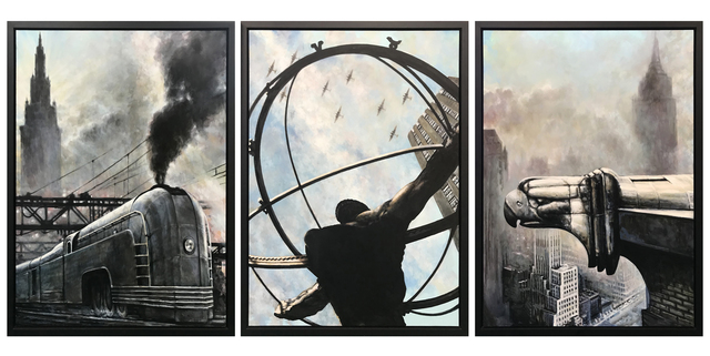 Lawrence Gipe, 'INDUSTRIAL (TRIPTYCH)', 2006, Painting, OIL ON PANEL, Gallery Art