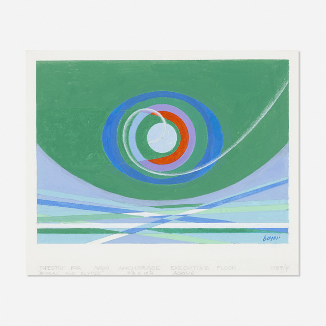 Herbert Bayer, 'study for Spiral and Elypse tapestry', 1983/84, Wright