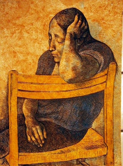 , 'Muchacha en Una Silla,' 1982, Stern Fine Art