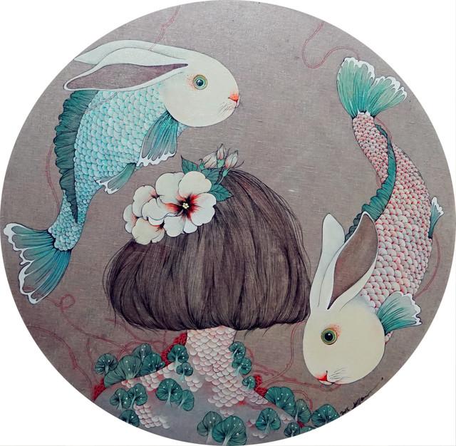He Juan 贺娟, '双鱼座', 2015, Hwas Gallery