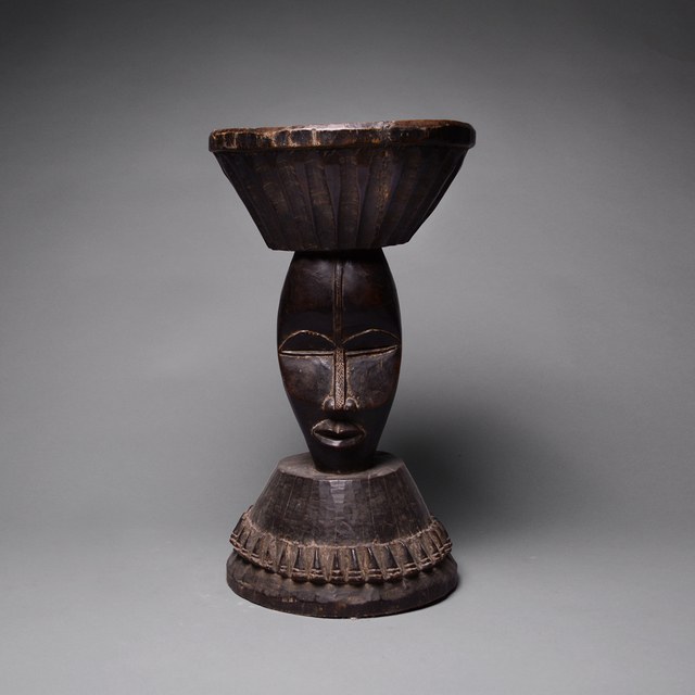 Unknown African, 'Dan Stool with Two Masks', 1850 A.D. to 1920 A.D., Barakat Gallery