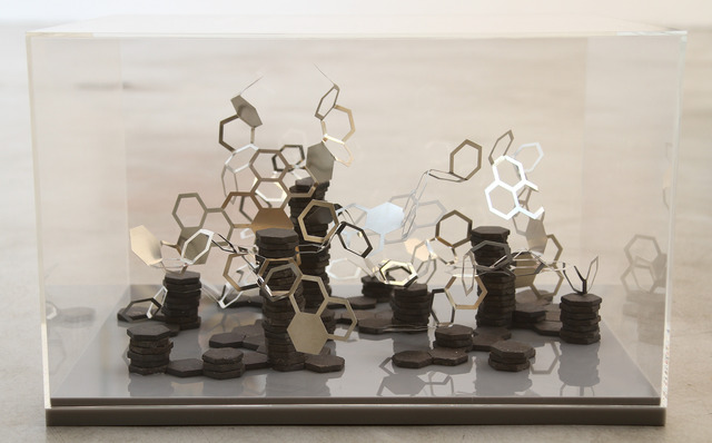 Ana Holck, 'Untitled', 2010, Sculpture, Stainless steel, ceramic and acrylic inserts, Zipper Galeria
