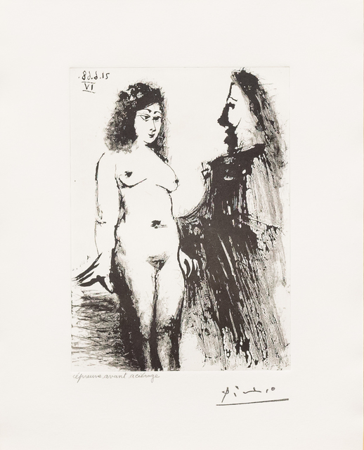 Pablo Picasso, 'Jeune Prostitutee et Mousquetaire, from the 347 Series', 1968, Leslie Sacks Gallery
