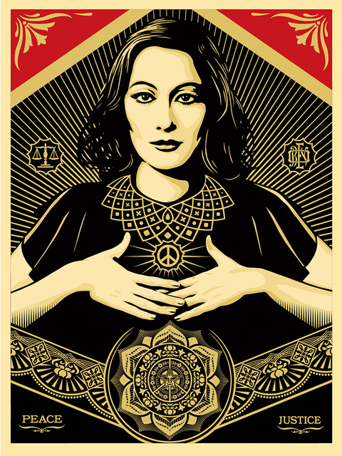 Shepard Fairey (OBEY), 'Peace and Justice Woman', 2013, Children's Museum of the Arts Benefit Auction