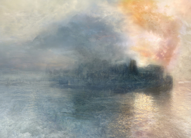 , 'The Burning of the Houses of Parliament no.1 (after JMW Turner, 1834)  ,' 2009, GBS Fine Art