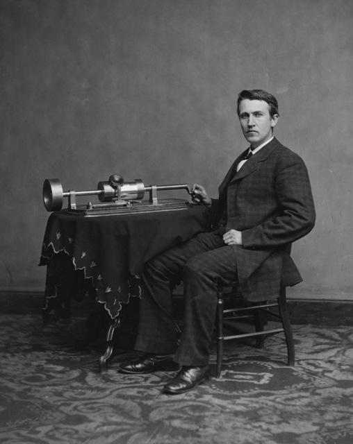 , 'Professor Thomas Edison and His Phonograph,' 1878, New York Historical Society