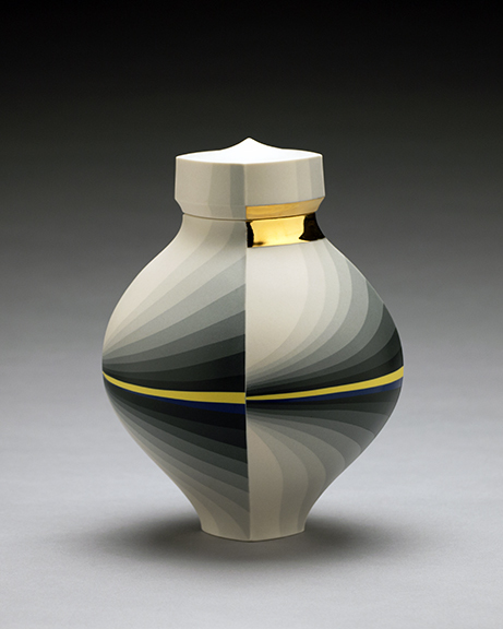 , 'Greyscale Jar with Blue and Yellow Band,' , Duane Reed Gallery