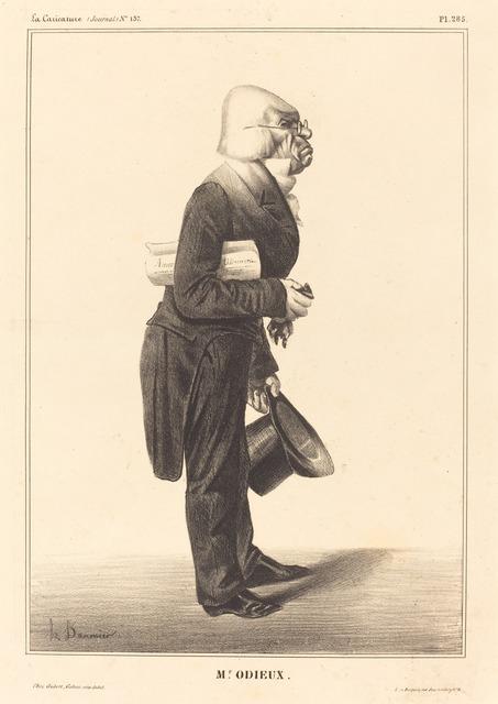 Honoré Daumier, 'Antoine Odier', 1833, National Gallery of Art, Washington, D.C.