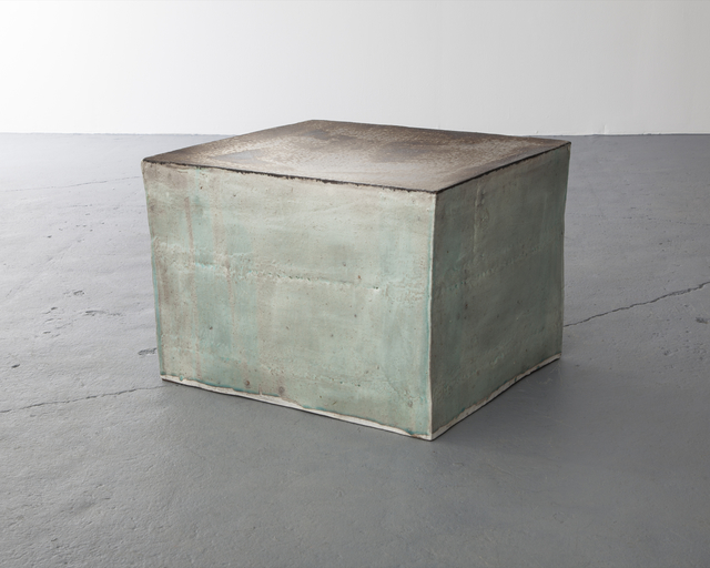 , 'Ceramic stool in traditional grayish-blue-powdered celadon glaze.,' 2013, Jeff Lincoln Art+Design