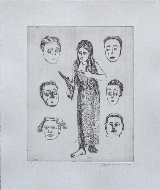 , 'Untitled (Woman and six faces),' 2001, David Krut Projects