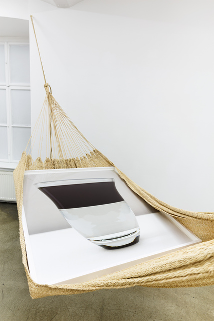 ", 'in collaboration with unknown Warao artisan  and Holger Niehaus. ""Warao Chinchorro / Hammock, (water-oil)"", 2004−2014. From the series ""Modern Entanglements"",' 2004-2014, Galerie Martin Janda"