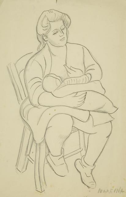Marie Vorobieff Marevna, 'Marika feeding Jean Diego Brusset', c.1949, Roseberys