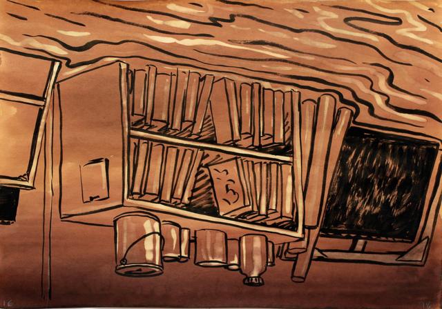 , 'Flooded Bookcase,' 2016, Pierogi