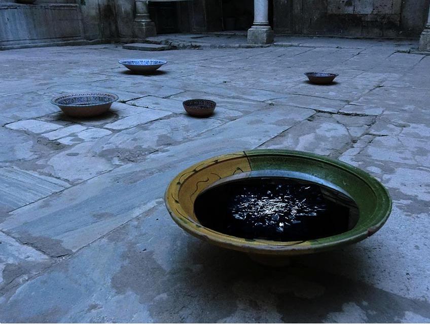 Interference / International Light Art Project Tunis, Tunisia, 2018 movie, mixed media, Tunisian ceramic bowl