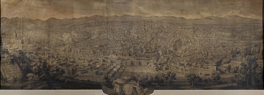 Giuseppe vasi prospetto di roma verso ponente 1750 artsy for Di giuseppe arredamenti roma