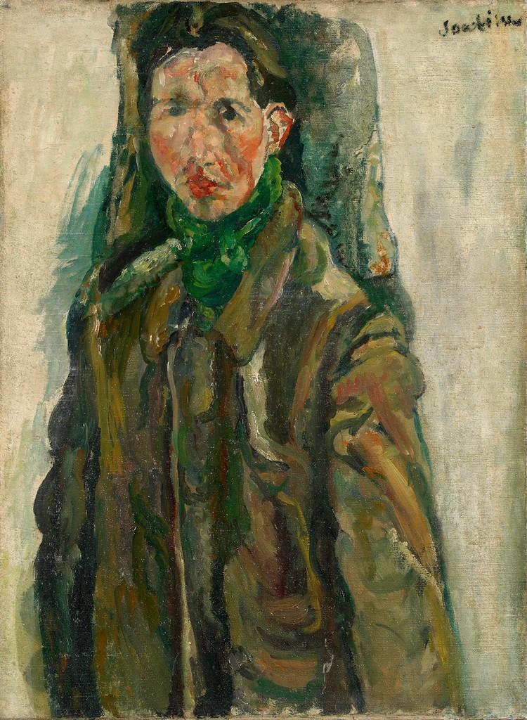 Chaïm Soutine. L'autoportrait au rideau