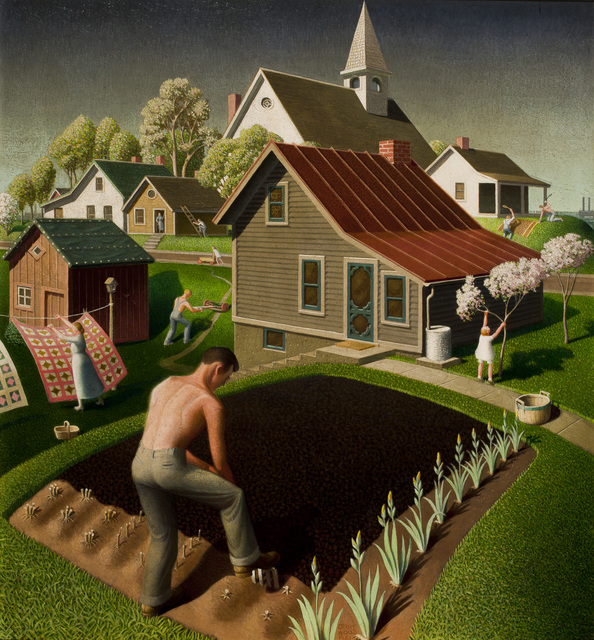 , 'Spring in Town,' 1941, Whitney Museum of American Art