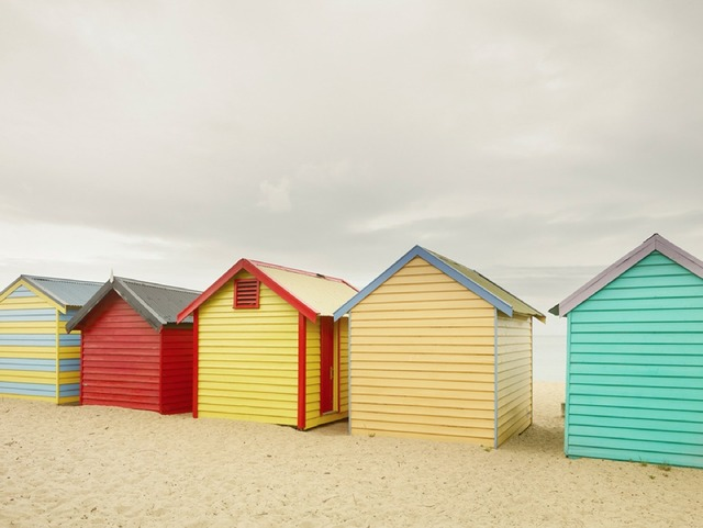 , 'Bathing Boxes II, Melbourne, Australia,' 2012, Jackson Fine Art