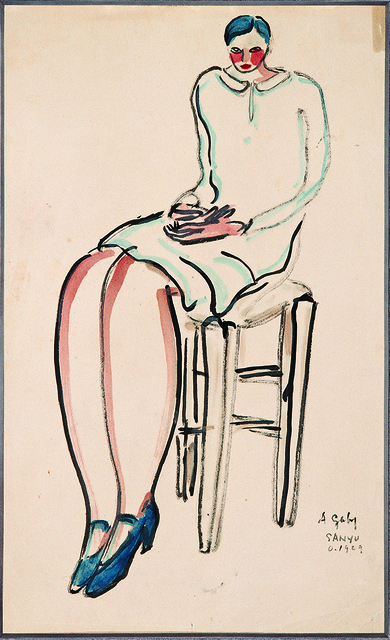 , 'Seated Blue Haired Lady,' 1929, Tina Keng Gallery