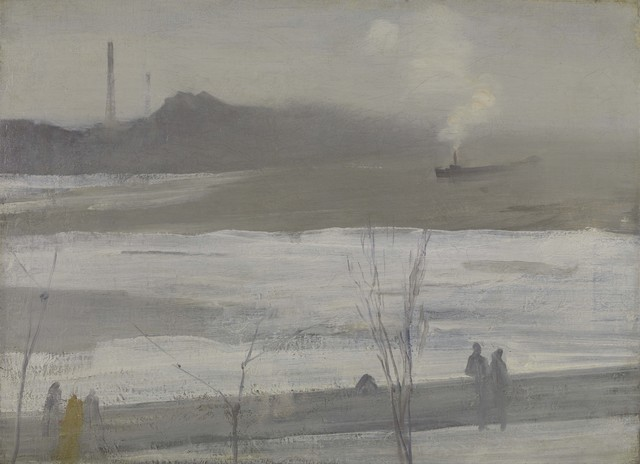 James Abbott McNeill Whistler, 'Chelsea in Ice', 1864, Colby College Museum of Art