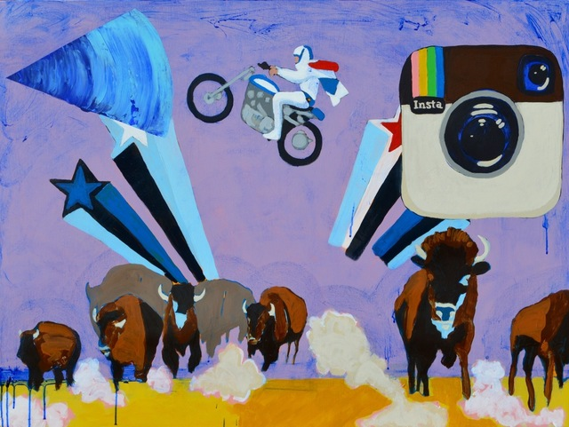 , 'EVEL KNIEVEL JUMPS THE BUFFALO FIELD,' 2016, Tansey Contemporary