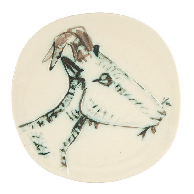 Pablo Picasso, 'TÊTE DE CHÈVRE DE PROFIL (ALAIN RAMIÉ 109)', 1950, Doyle