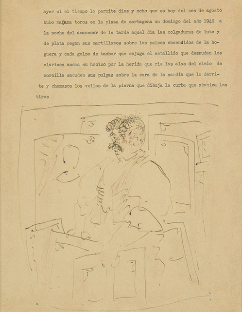 Pablo Picasso, 'Marchand De Tableaux', Drawing, Collage or other Work on Paper, Ink drawing on paper, DIGARD AUCTION