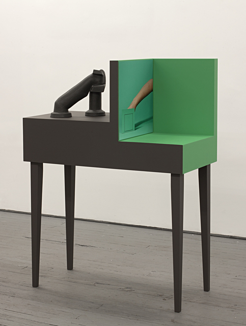 , 'Arm Armature #7 (green, with squares),' 2016, Miranda Kuo Gallery