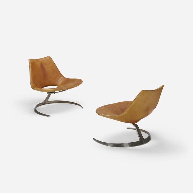 Preben Fabricius, 'Scimitar chairs, pair', 1962, Wright