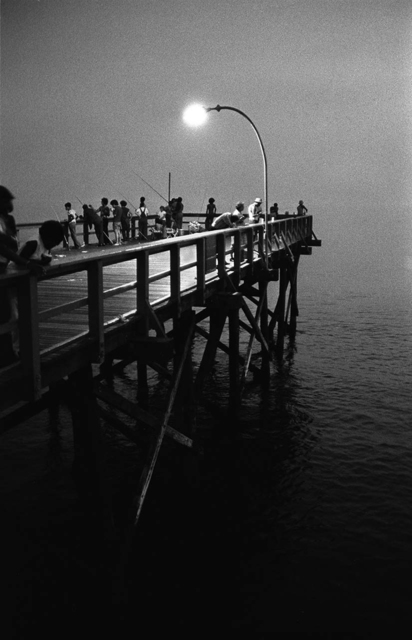 , 'Night Fishing from Pier, Coney Island,' 1973, PDNB Gallery