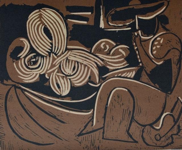 Pablo Picasso, 'Femme couchée et homme à la guitare', ca. 1980, ByNewArt