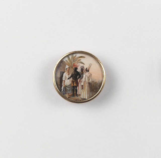 Agostino Brunias, 'Button Showing West Indian Scene', ca. 1795, Cooper Hewitt, Smithsonian Design Museum